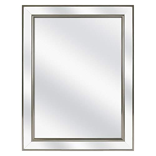 Home Decorators Collection 45418 Framed Recessed or Surface-Mount Mirror Bathroom Medicine -