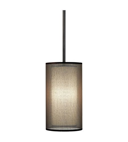 (Robert Abbey Z2186 Mini Pendants with Bronze Fabric Inner and Ascot White Outer Shades, Deep Patina Bronze Finish by Alico Lighting)