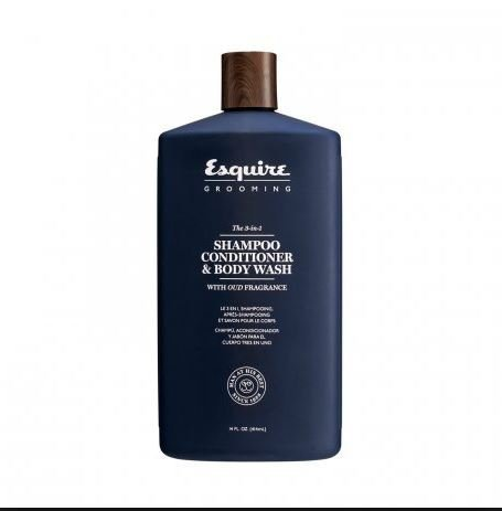 Esquire 3-in-1 Shampoo Conditioner & Body Wash 14 Oz.