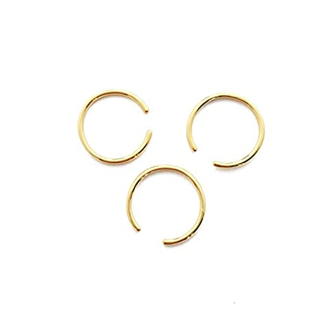 HONEYCAT 24k Gold Plated Open Adjustable Stacking Rings Trio Set | Minimalist, Delicate Jewelry