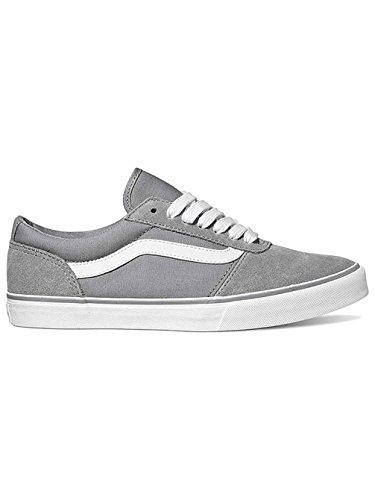 Hi Suede Wild 8 Top Canvas Ward Sneakers Vans WoMen Low Dove Canvas White Grey UK R72 xvE88T6