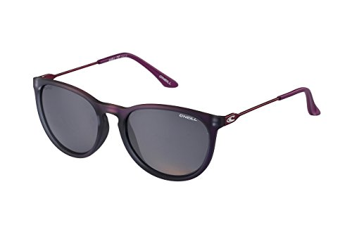161 Sunglasses (O'Neill Shell 161P Women's Round Polarized Sunglasses, Frosted Berry)