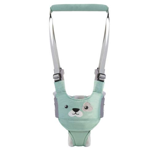 Baby Walking Harness Handheld Baby Walker, Safe Stand Hand Held Baby Walking Assistant Walking Helper, Breathable Safety Walking Harness Walking Belt for Toddler Infant, Adjustable (Green)