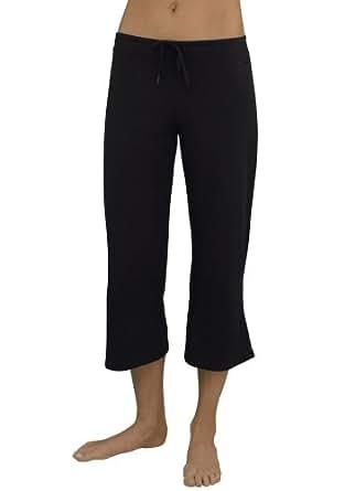 Jockey Women's Activewear Drawstring Crop Pant, lt. grey heather, S