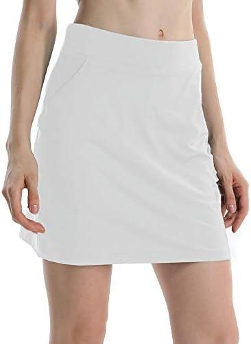 Gooket Womens Stretch Running Skorts Casual Pleated Gym Tennis Skort with Shorts Inner