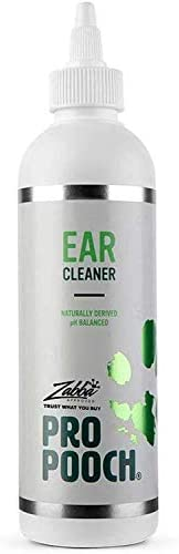 Pro Pooch Dog Ear Cleaner – Drops to Stop Head Shaking, Itchy & Waxy Ears – Vet Recommended, Naturally Derived, Non-Toxic Ear Cleaning Solution for Dogs – 250ml