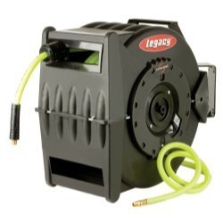 Legacy Manufacturing Levelwind Retractable Hose Reel for Air with 1/2 I.D. x 50' Flexzilla Hose by Legacy (Levelwind Reel Air Hose Retractable)