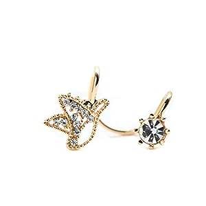 Studs Earrings Hypoallergenic Cartilage Ear Piercing Simple Fashion Earrings Ear Jewelry Ear Bone Clip Without Pierced Simple Snowflake Inlaid Zircon Ear Clip