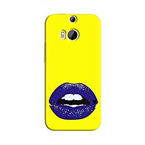 Cover It Up Purple Lips Hard Case For HTC M9 Plus - Yellow