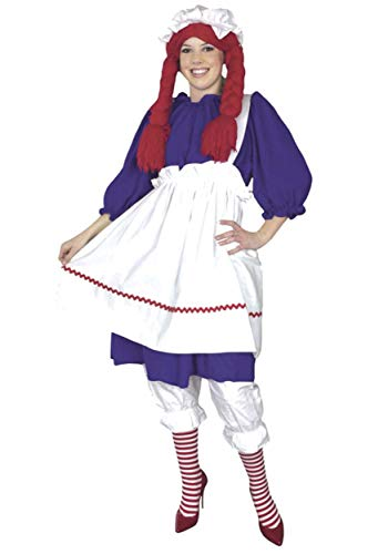 Plus Size Rag Doll Costume 1X Blue -