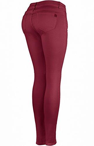 Femme Bordeaux Jeans Jeans 2LUV Bordeaux Jeans Femme 2LUV 2LUV Iwq867