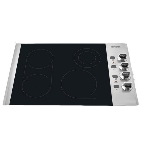"""Frigidaire FPEC3085KS Professional 30"""" Stainless Steel Electric Smoothtop Cooktop"""