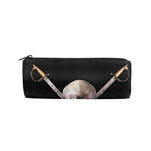 ALLDET Pirate Cylinder Women Cosmetic Bag Zipper Single Layer Travel Storage Makeup Bags Purse ()