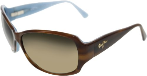 Maui Jim - Nalani - Tortoise With White & Blue Frame-HCL Bronze Polarized - Sunglasses Women's Maui Jim
