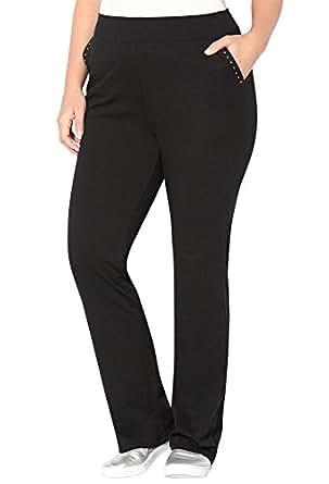 Avenue Women's Stud Active Pant, 26/28 Black