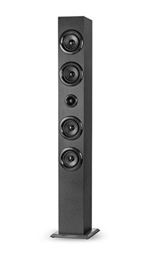 Elbe TW-402-BT multifunctionele sound-toren met Bluetooth, FM/SD/USB, 40 W, zwart