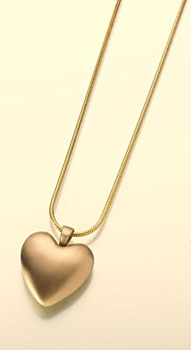 Bronze Heart Pendant Cremation Pendant with a Satin Finish Attractive Black Velvet Gift Box (Pendant Velvet Bronze)