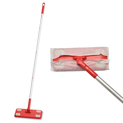 Mops for Floor Cleaning-Dry Sweeper Mop- Floor Mopping and Cleaning Starter Kit with 10 Refill Pads for Hardwood,Laminate,Tile,Marble Floor