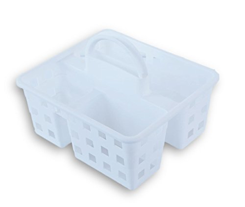 (Small Utility Shower Caddy Tote - White)