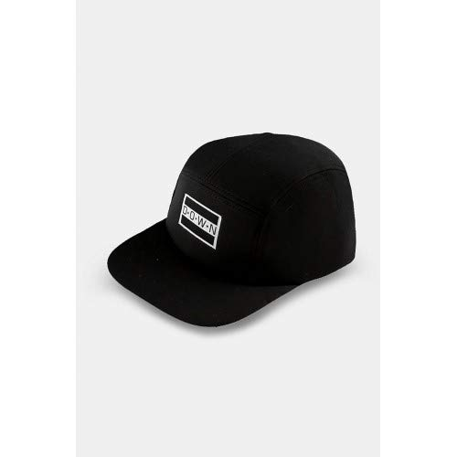 Down Mens Flatbill Cap Black