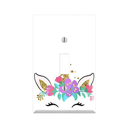 - UNICORN Wall Plate Cover, UNICORN Light Switch Plate, Outlet Cover, Single Toggle, Single Rocker/GFCI Outlet, Duplex Outlet, Dual Toggle, Dual Rocker/GFCI, Combination of Toggle, Outlet, Rocker TF68