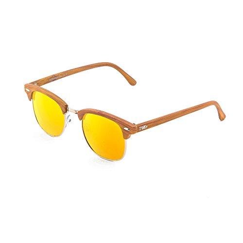 madera Naranja Gafas TWIG DEGAS mujer de Chestnut hombre sol estilo zTTqX1rw