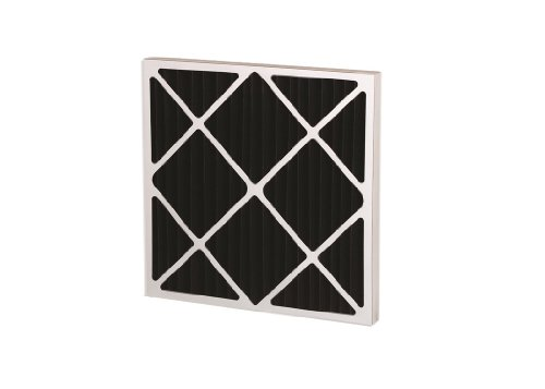 """Filtration Group 21097 Series 550 Odor Removal Pleated Air Filter, Polyester / Nonwoven Impregnated with Activated Carbon, Black, 10"""" Height x 20"""" Width x 2"""" Depth (Case of 6)"""
