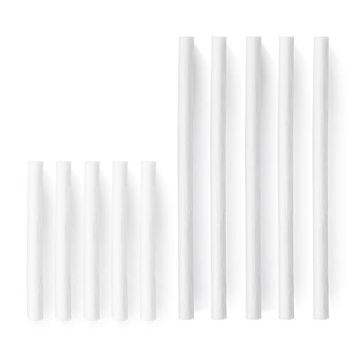OURRY Humidifier Cotton Filter Wicks, 10 Pack Cotton Filter Refill Sticks Wicks Replacement (Long: 195mm/7.68inch, Short: 117mm/4.61inch) for Personal ()