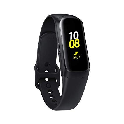 Samsung Galaxy Fit 2019, Smartwatch Fitness Band, Stress & Sleep Tracker, AMOLED Display, 5ATM Water Resistance, MIL-STD-810G, Bluetooth Active SM-R370 - International Version (Black) by Samsung