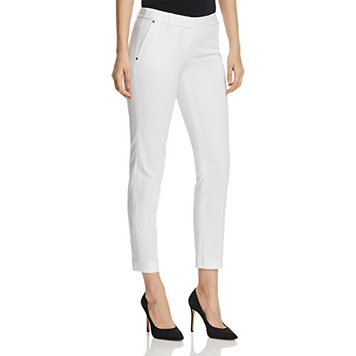 MICHAEL Michael Kors Womens Studded Pocket Trim High Rise Dress Pants White 6 Studded Pocket Dress
