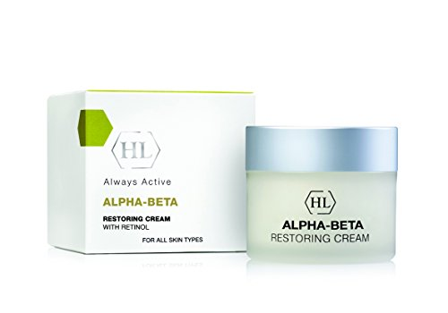 Restoring Night Cream with Retinol,Alpha Hydroxy Acid,silk extract for Face, Neck and Décolleté, 1.7 Oz by HL Alpha-Beta Retinol
