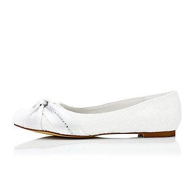 Cómodo y elegante soporte de zapatos de las mujeres pisos de primavera/verano/otoño/invierno seda boda/fiesta y noche/ beige