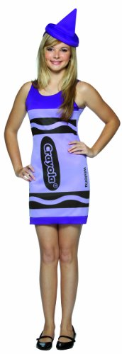 [Rasta Imposta Crayola Tank Dress Teen Costume, Wisteria, Teen 13-16] (Womens Tank Dress Wonder Woman Costumes)