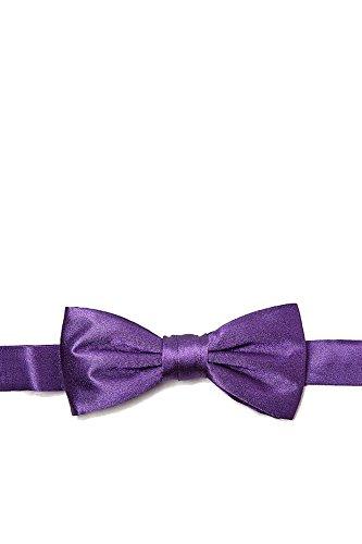 Boys 100% Silk Concord Grape Purple Pre-Tied Bow Tie Neckwear