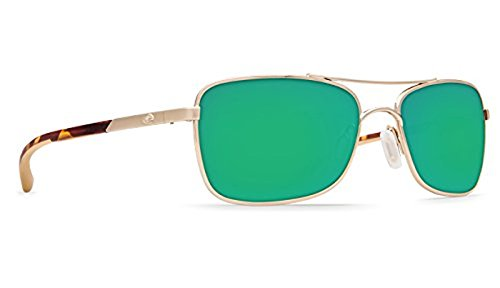 Costa Palapa Sunglasses Rose Gold / Green Mirror 580G & Neoprene Classic - Palapa Costa