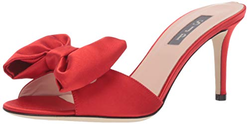 - SJP by Sarah Jessica Parker Women's Finley Heeled Sandal red Satin 38.5 M EU (8 US)