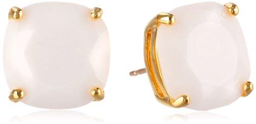 Kate Spade New York Women's Small Square Studs White Stud Earrings