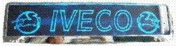 LED-Leuchtschild mit Iveco-Logo, 52x11,5cm ✓ Ideale Geschenkidee ✓ 18 LEDs ✓ Lasergraviert | Edles Neonschild als Truck-Accessoire | Beleuchtetes LED-Schild fü r den 12/24Volt-Anschluss | Ideales LKW-Zubehö r fü r Trucker in verschiedenen Fa