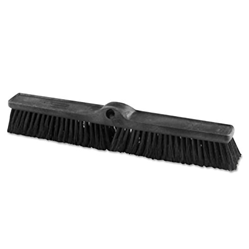 Heavy Duty Push Broom Rough Surface, 24'' X 3'', Black, Polypropylene, 12/carton by Rubbermaid Commercial