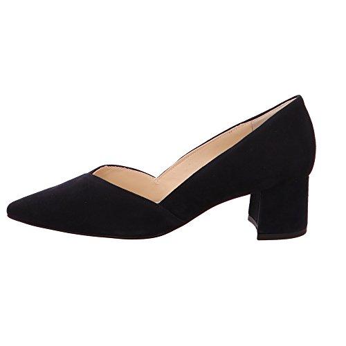 Hogl Ocean Heel Low Navy Shoes Suede Block Court r1rqw48n