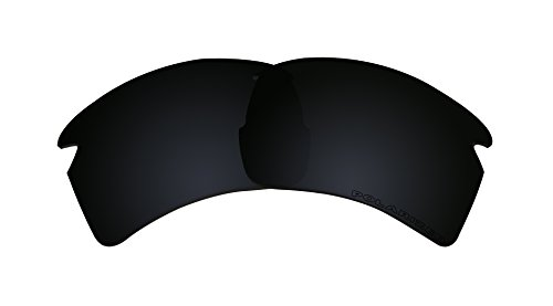 Stealth Black Lenses Replacement Polarized for Oakley FLAK 2.0 XL - Oo9188 08