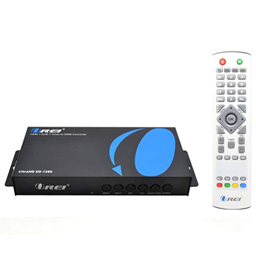 OREI XD-1290 4K PAL HDMI to NTSC HDMI Video Converter Built in Digital DVB-T TV Tuner – Change Channels – Worldwide Voltage