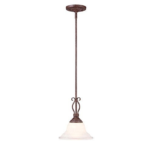 Savoy House KP-SS-130-1-91 Mini Pendant with Cream Faux Alabaster Shades, Sunset Bronze Finish by Savoy House