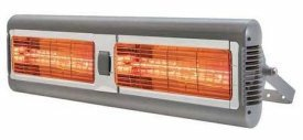 Solaira SALPHAH2-40240S Solaria Alpha Series - Electric Infrared Commercial Heater, Silver/Grey Finish