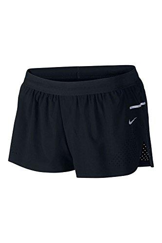 Nike Women's Race Woven Run Speed Shorts Size L Black $80