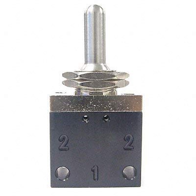 Pneumadyne C042503, 3-Position Toggle Valve, 3-Way, 1/8 NPT (F) Ports, Momentary Actuation by Pneumadyne