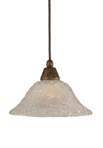 - Toltec Lighting 22-BRZ-431 Cord Mini-Pendant Light Bronze Finish with Italian Bubble Glass, 10-Inch
