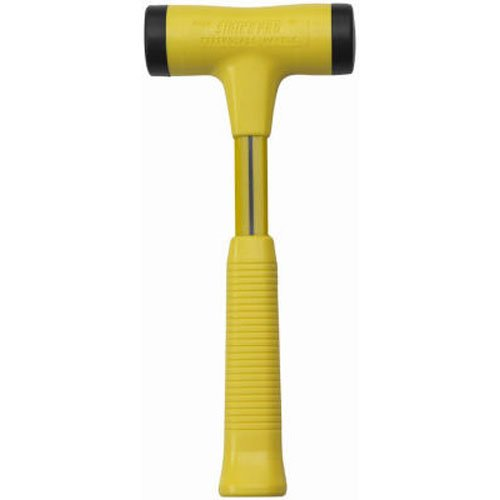 Nupla STP24 Strike Pro Power Drive Dead Blow Hammer, C Grip, Yellow, 12.25'' Long Handle