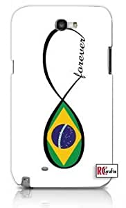 Cool Painting Forever Brazil National Infinity Country Flag Brazilian Unique Quality Hard Snap On Case for Samsung Galaxy S4 I9500 - White Case