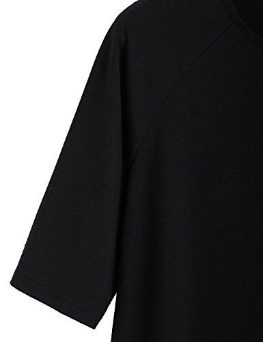 eb5870a300 ROMWE Women s Short Sleeve Casual Loose Fit T-Shirt Tunic Dress Swing Dress